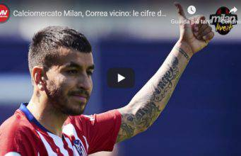 Angel Correa Calciomercato Milan