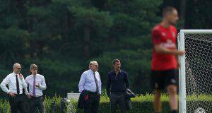 Paolo Maldini, Paolo Scaroni, Frederic Massara Ivan Gazidis