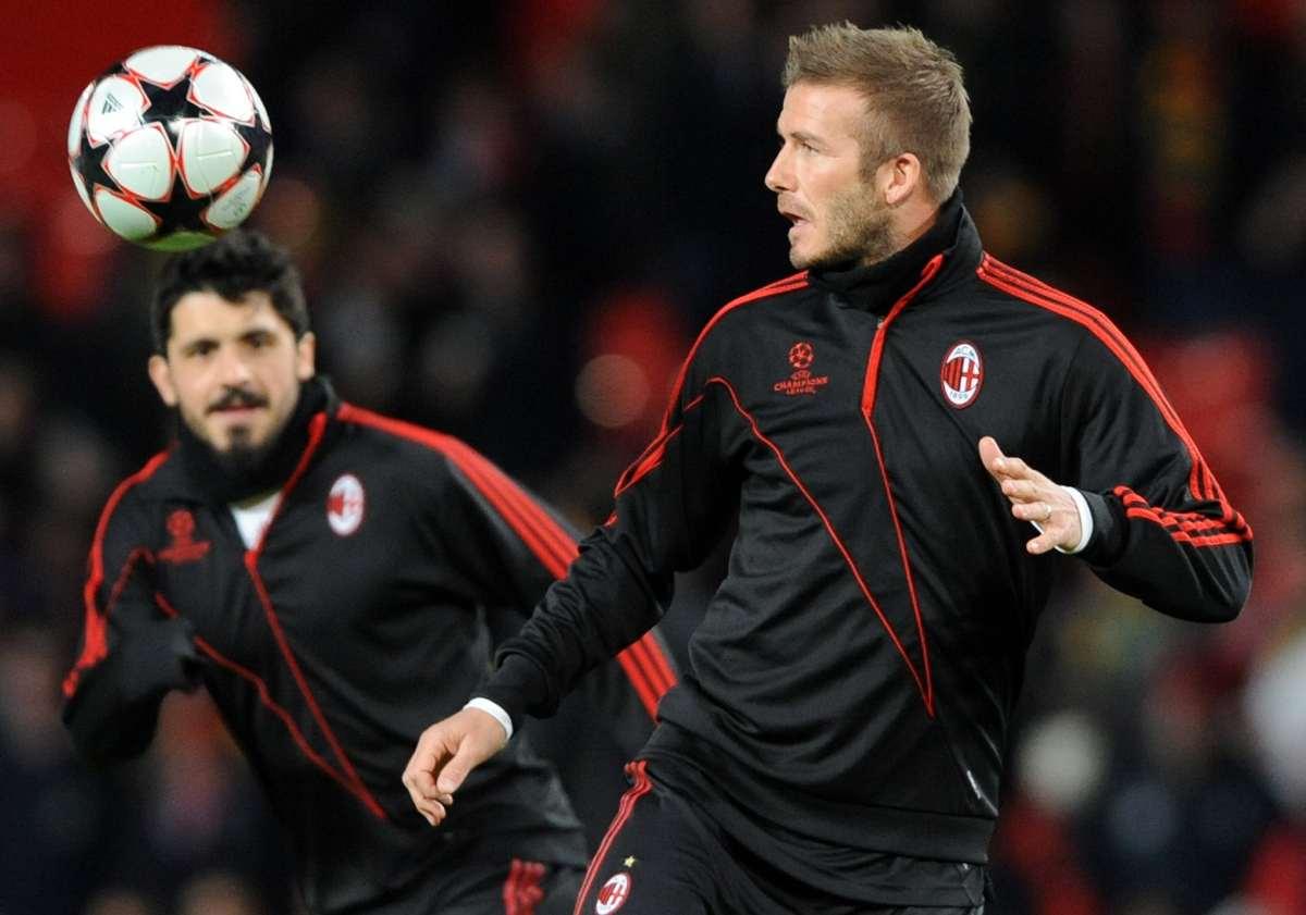 Gennaro Gattuso e David Beckham