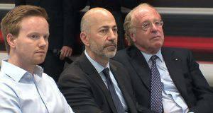 Paolo Scaroni, Ivan Gazidis e James Murra