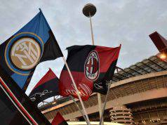 Bandiere Milan e Inter a San Siro