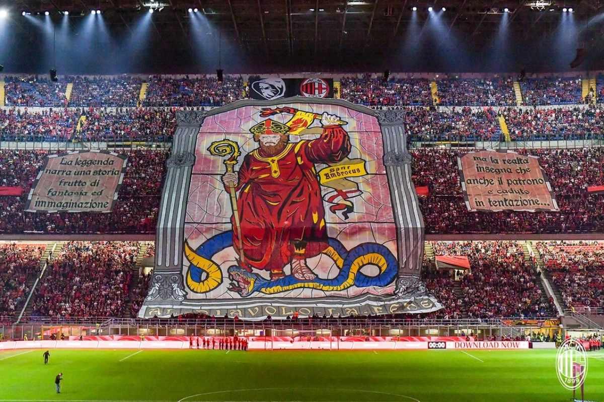 Coreografia Sant'Ambrogio Curva Sud Milan