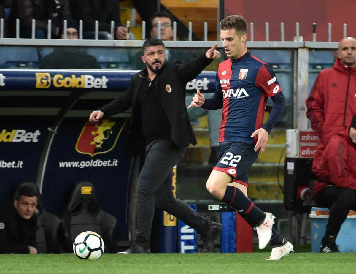 Gennaro Gattuso in Genoa-Milan