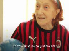 Signora Ines, tifosa Milan 100 anni