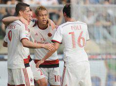 Fernando Torres, Ignazio Abate, Keisuke Honda e Andrea Poli