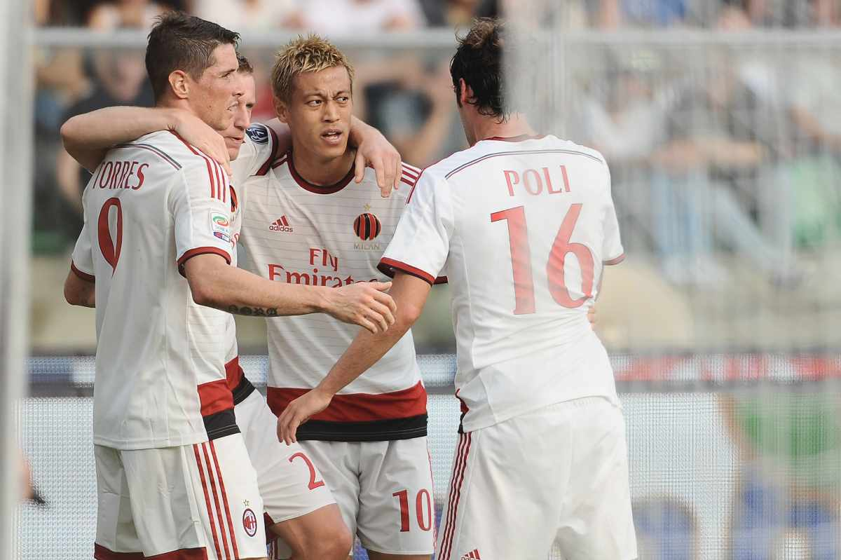 Fernando Torres, Ignaizo Abate, Keisuke Honda e Andrea Poli