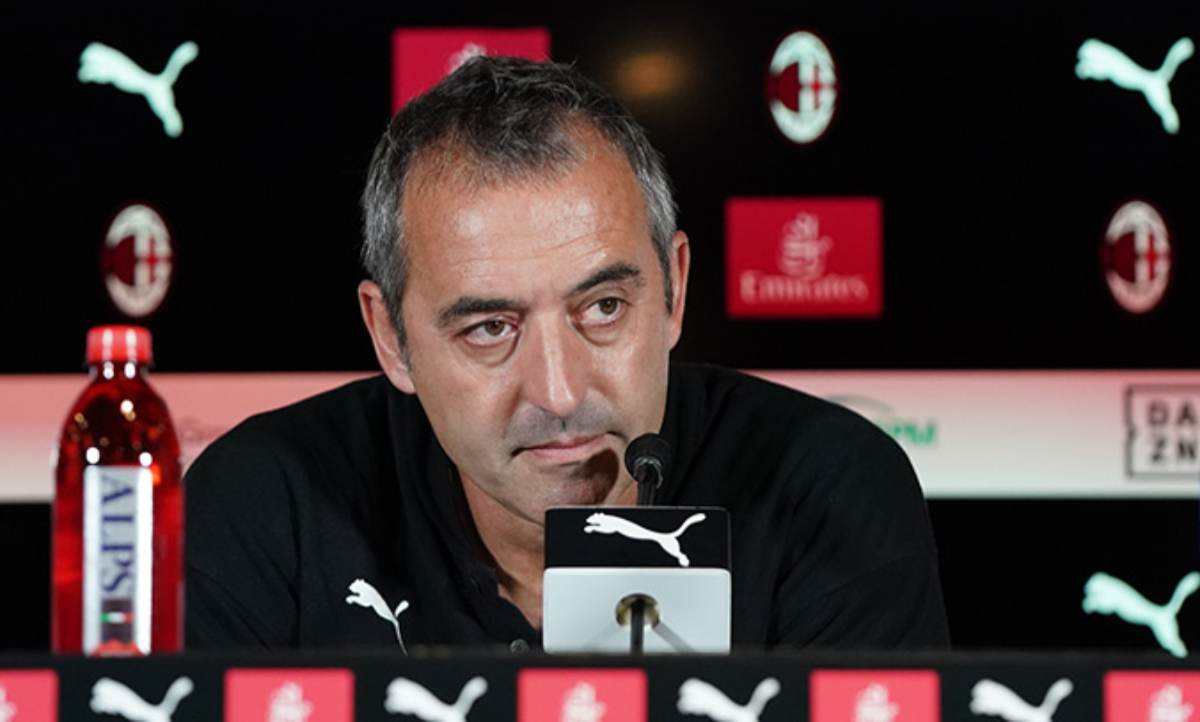 marco giampaolo in conferenza stampa