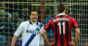 julio cesar zlatan ibrahimovic Inter Milan