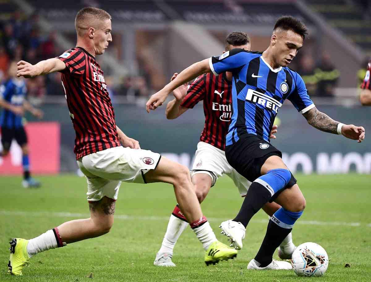 Andrea Conti Lautaro Martinez Milan Inter