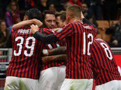 Esultanza Milan-Lecce