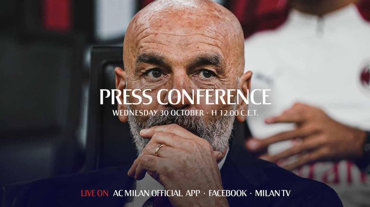 milan spal conferenza stampa pioli