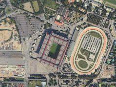 Zona stadio San Siro dall'alto
