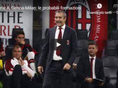 Genoa Milan probabili formazioni Giampaolo