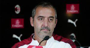 Marco Giampaolo conferenza stampa Milanello
