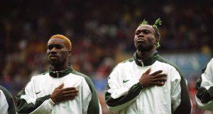 Jay-Jay Okocha and Taribo West