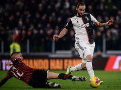 Gonzalo Higuain Andrea Conti Juventus Milan