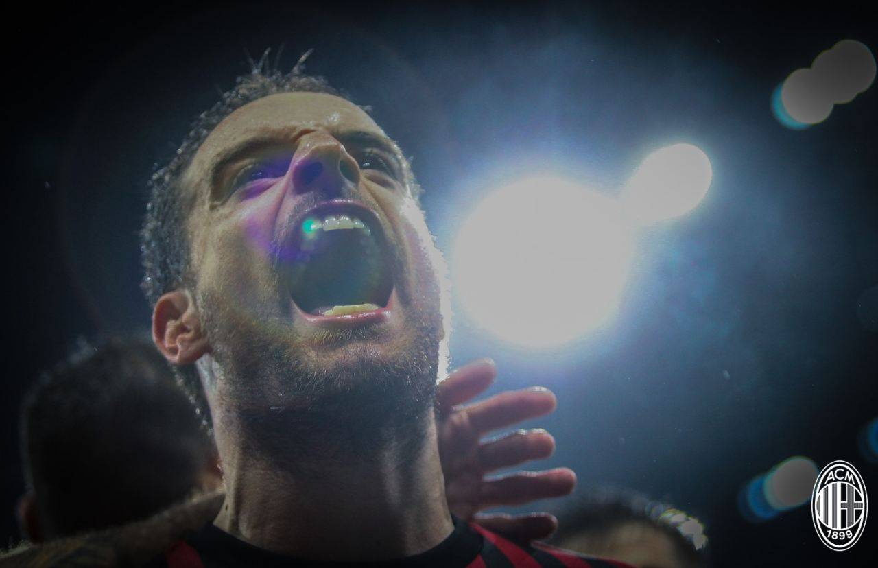 Esultanza Giacomo Bonaventura gol Milan-Napoli