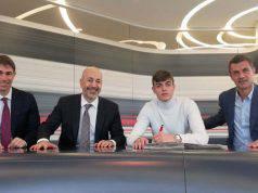 Daniel Maldini Paolo Maldini Ivan Gazidis Frederic Massara firma