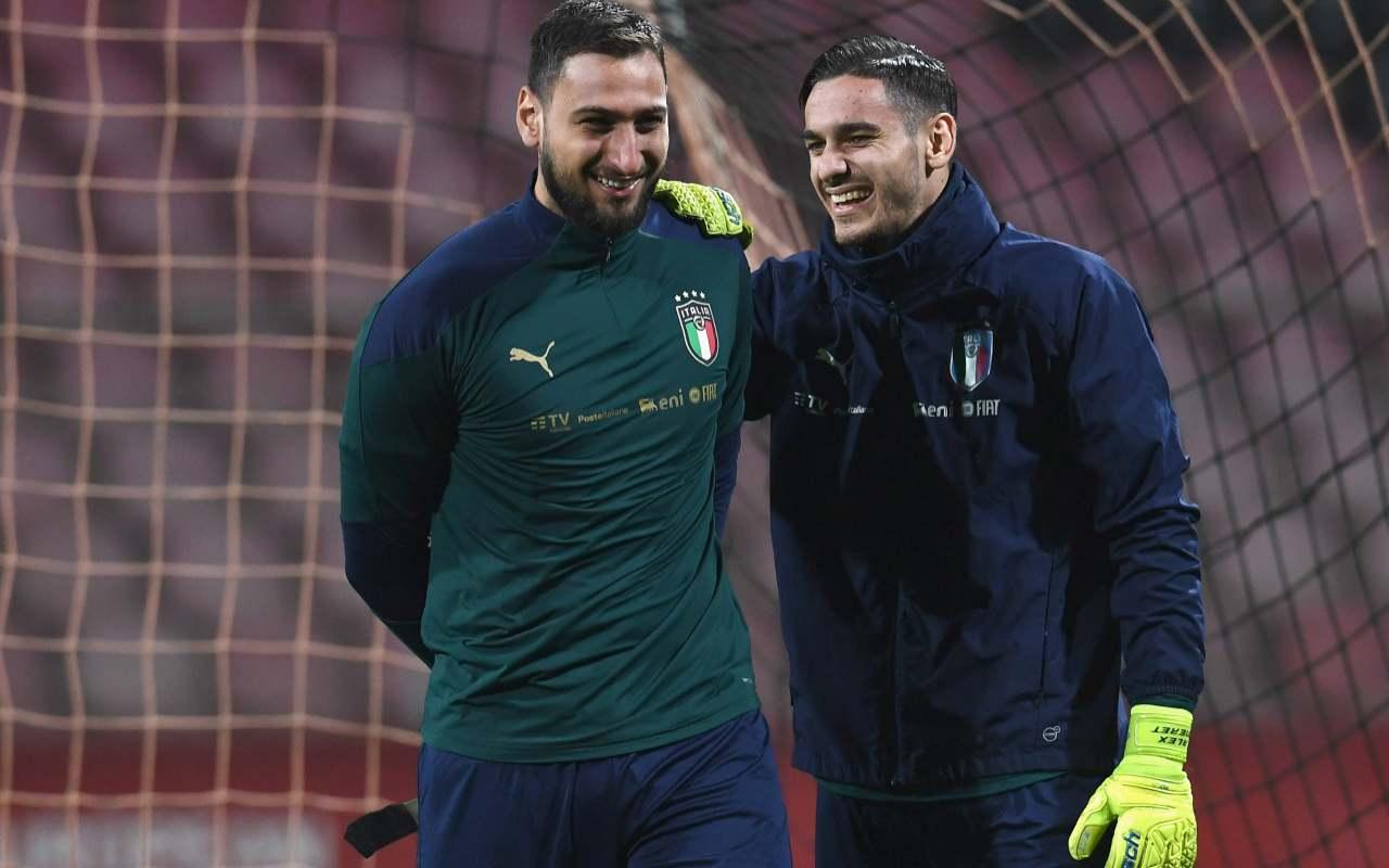 Gianluigi Donnarumma Alex Meret Milan Napoli