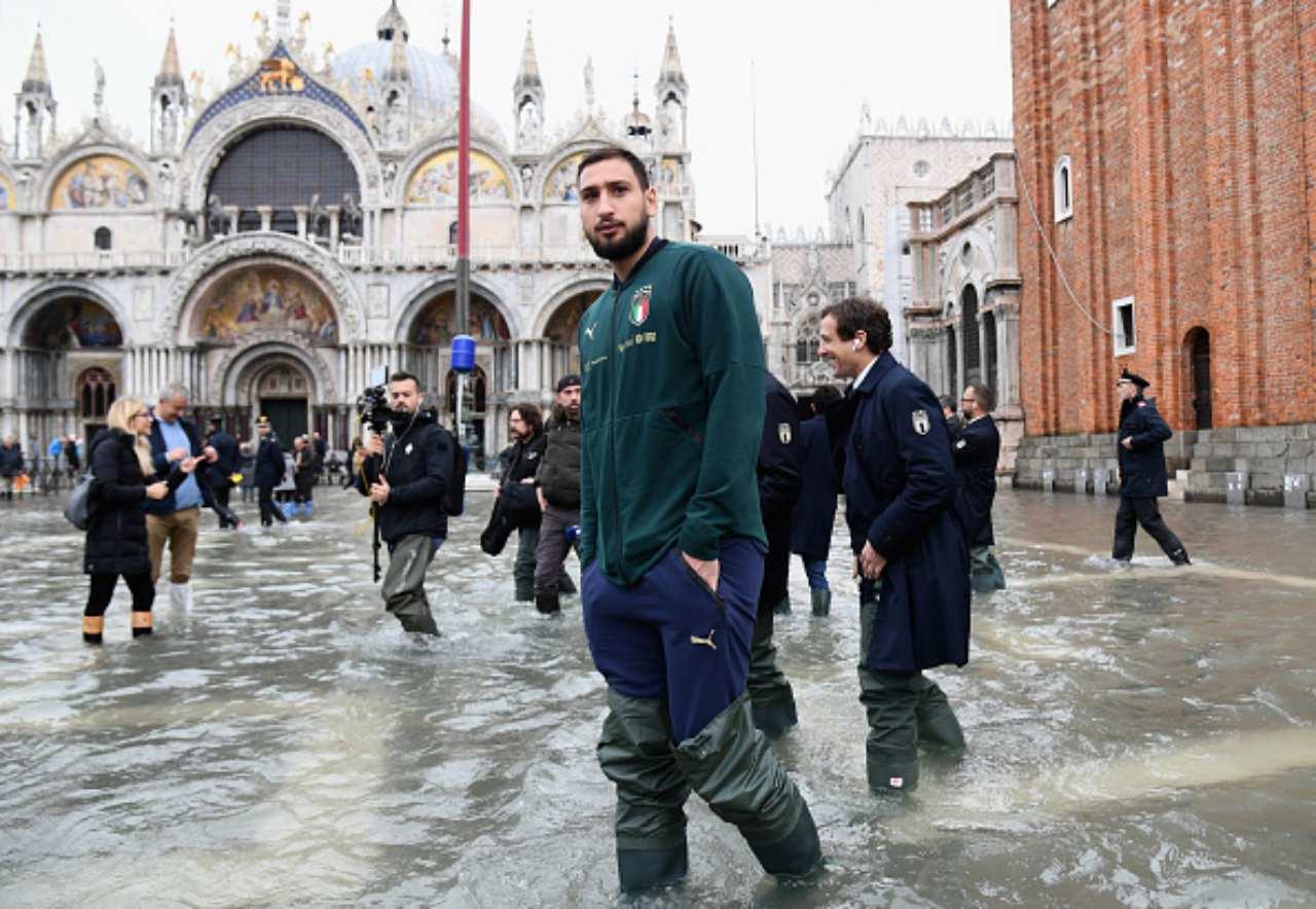 Gianluigi Donnarumma Venezia acqua alta