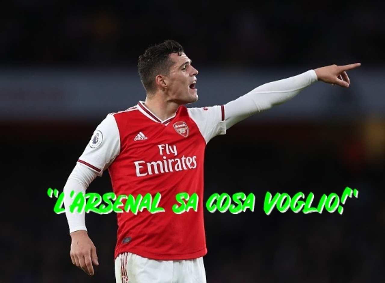 Granit Xhaka Milan Arsenal
