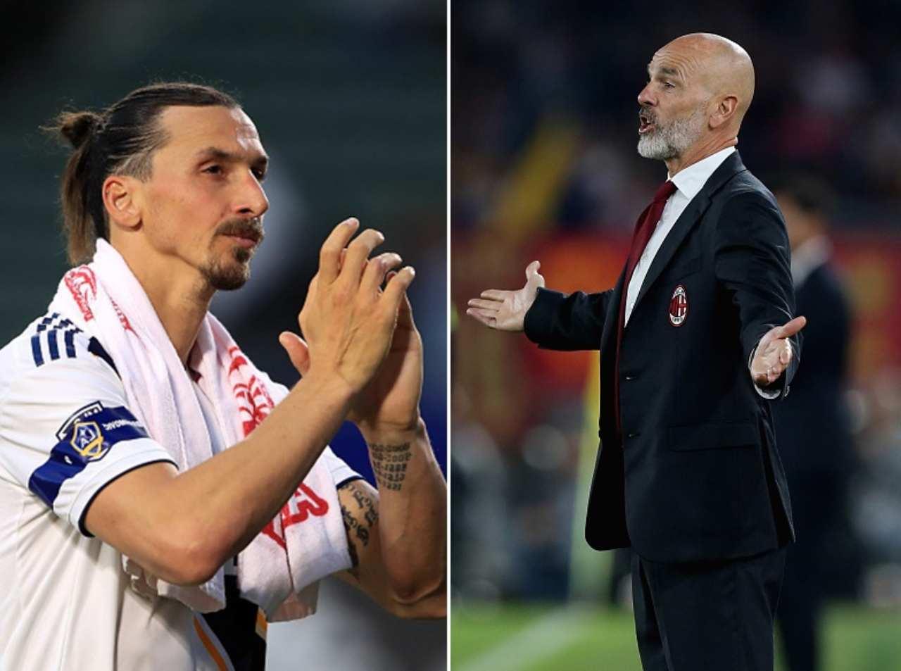 Zlatan Ibrahimovic Stefano Pioli