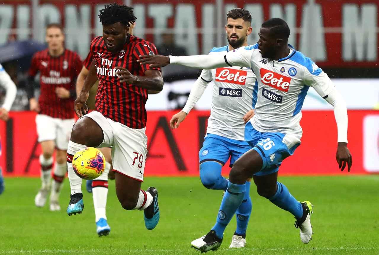 Franck Kessie Kalidou Koulibaly Milan Napoli