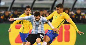 Leo Messi Thiago Silva Brasile Argentina