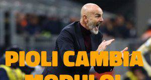 Stefano Pioli cambio modulo 3-4-2-1
