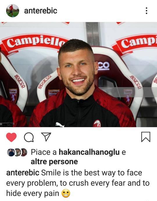 Ante Rebic risponde critiche instagram