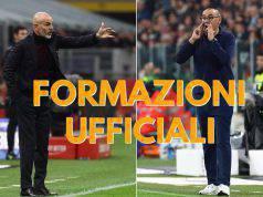 Stefano Pioli Maurizio Sarri formazioni ufficiali Juventus-Milan