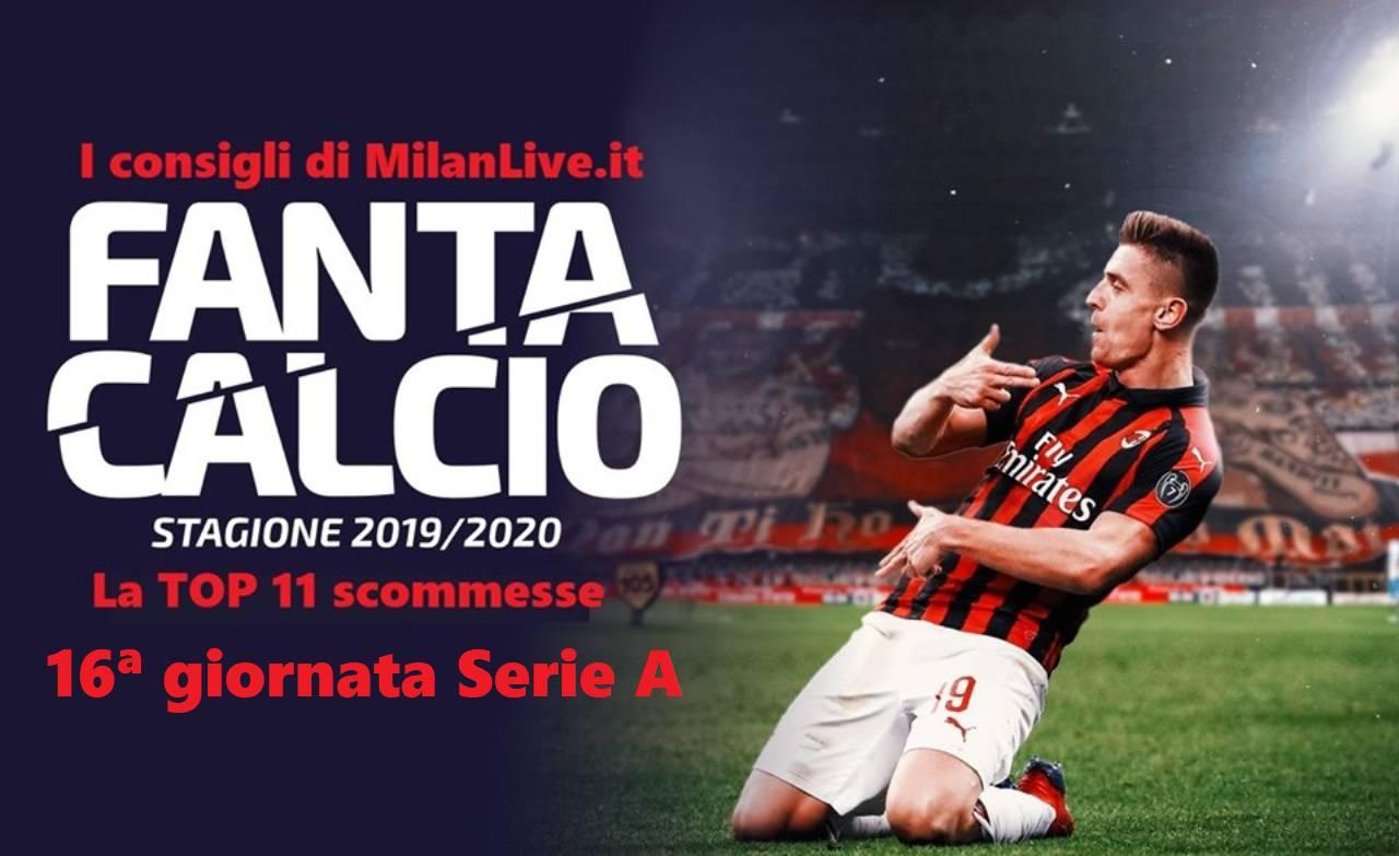 Consigli Fantacalcio MilanLive 16.a giornata Serie A