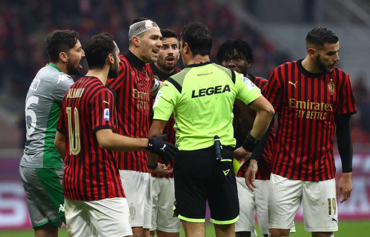 Manganiello arbitro Milan Sassuolo