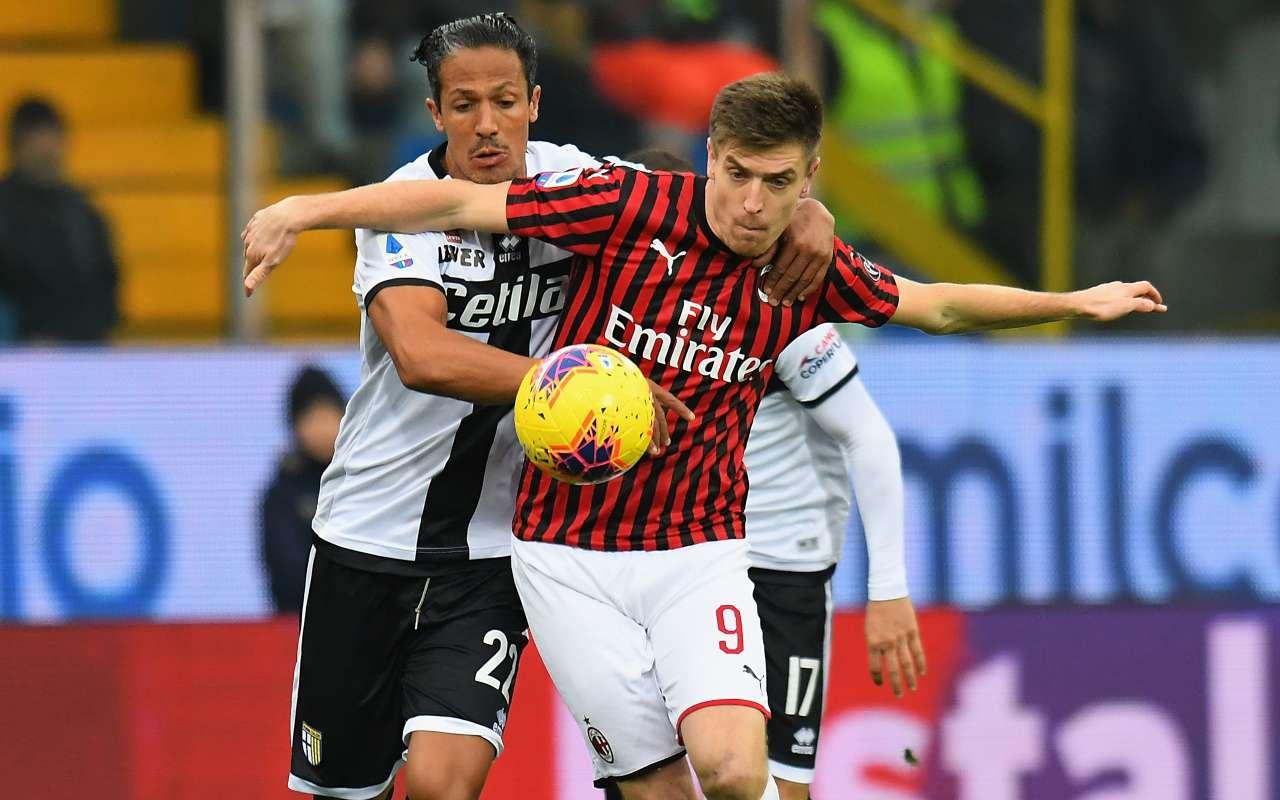 Krzysztof Piatek Bruno Alves Parma Milan