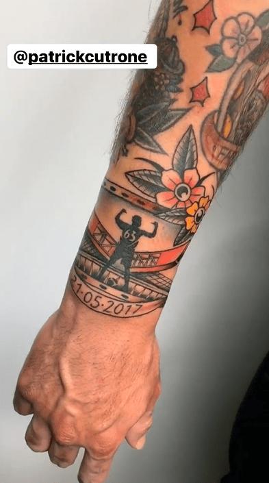 Foto tatuaggio Cutrone Milan