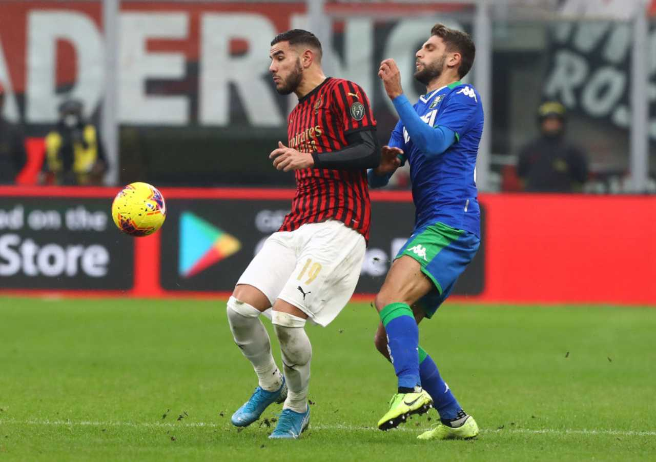 Theo Hernandez Domenico Berardi Milan Sassuolo