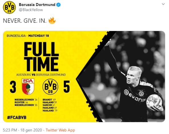 Borussia Dortmund Haaland tripletta