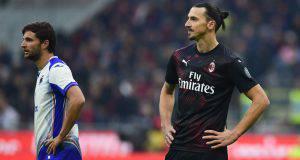 Ibrahimovic zlatan milan Sampdoria