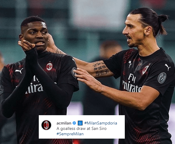 Milan Instagram Ibrahimovic Leao