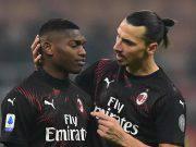 Rafael Leao Zlatan Ibrahimovic Milan Sampdoria