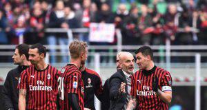 Stefano Pioli Simon Kjaer Alessio Romagnoli Milan