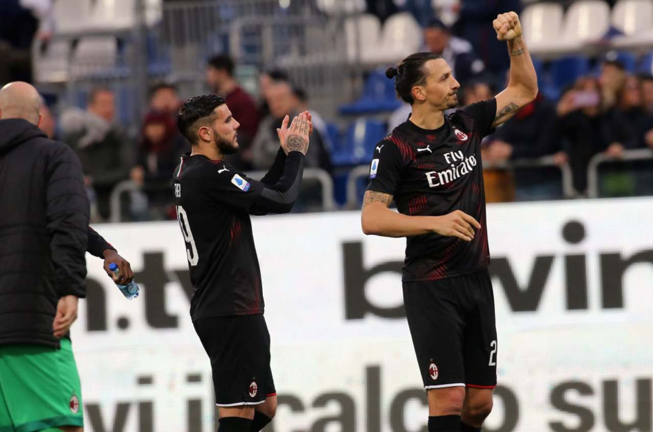 Theo Hernandez e Ibrahimovic