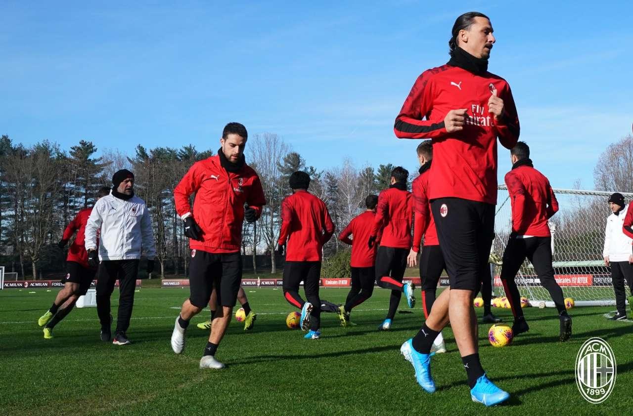 Zlatan Ibrahimovic a Milanello