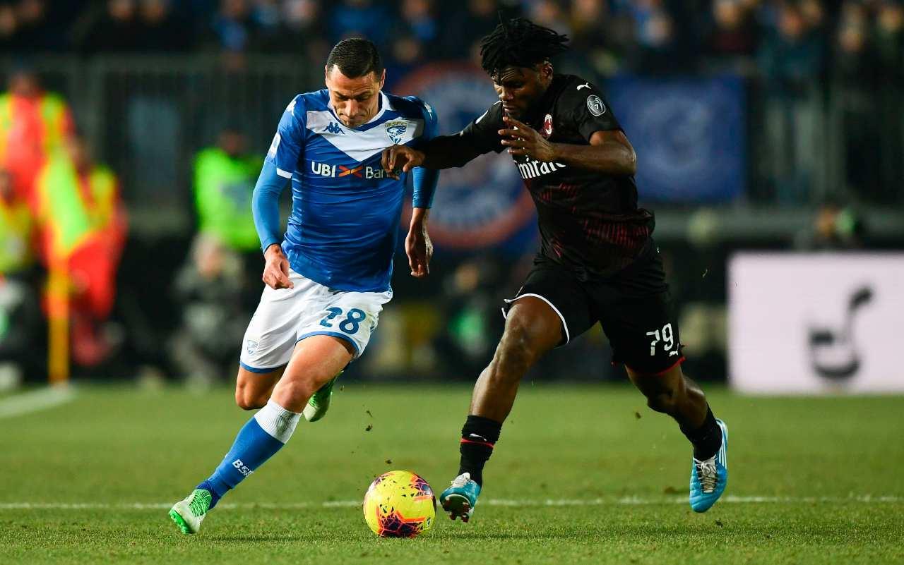Franck kessie Romulo Brescia Milan
