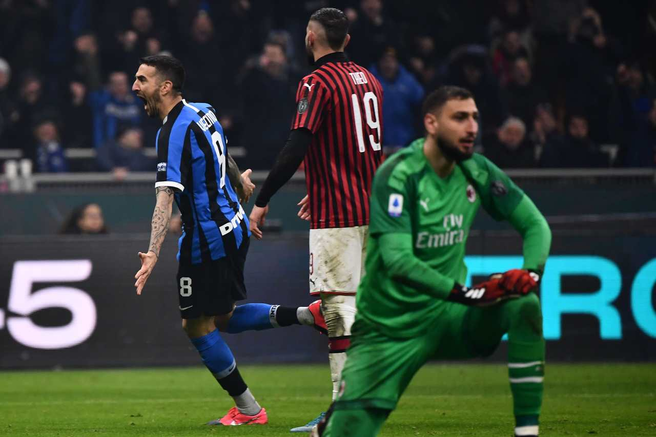 Derby Inter Milan Vecino gol