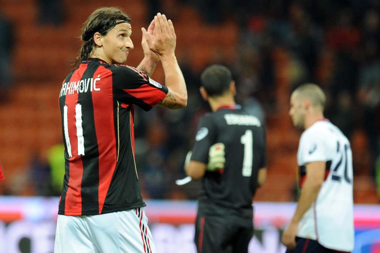 Zlatan Ibrahimovic Milan-Genoa