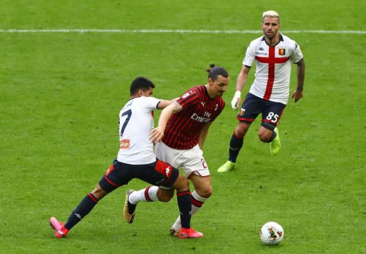Ibrahimovic Milan-Genoa