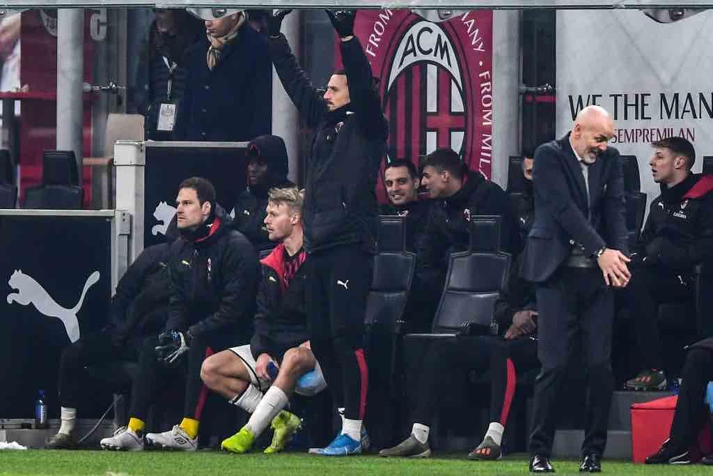 Ibrahimovic  Pioli Milan