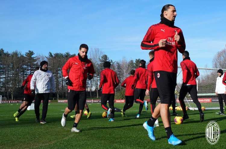 Ripresa allenamenti Milan settimana