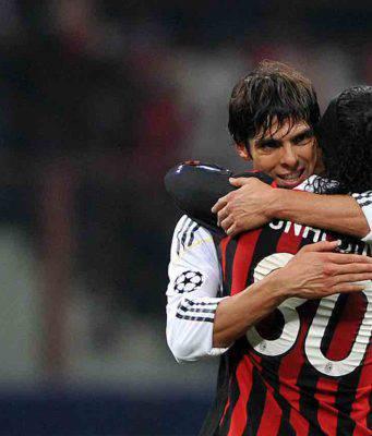 Ronaldinho e Kaka messaggio